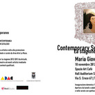 Contemporary Season. Maria Giovanna Speranza