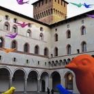 Rondini colorate al Castello Sforzesco per salvare la statua equestre