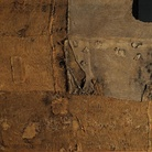 Alberto Burri, Sacco e Verde, 1956, cm 176x203. Sacco, tela, acrilico, olio su tela. Fondazione Palazzo Albizzini. Collezione Burri