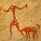 Le pitture rupestri del Tadrart Acacus, area montuosa del Sahara che si trova nel Fezzan, nella parte sud-ovest della Libia, vicino alla città di Ghat, Datate tra il 12.000 a.C. e il 100 d.C.