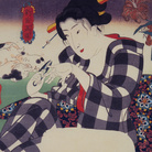 Utagawa Kuniyoshi, Tagliarsi le unghie, Serie: L'universo femminile (Shinramanzō), Circa 1843-44, Silografia policroma (nishikie), 29.2 x 22.4 cm, Masao Takashima Collection