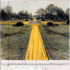 Christo, Wrapped Walk Ways (Project for Loose Park, Kansas City, Missouri), Collage 1978, 28 x 22