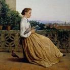 Michele Tedesco, Lettura in terrazza, 1875 circa, Olio su tela, 48 x 62 cm