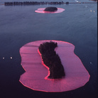 Christo, Surrounded Island, Biscayne Bay, Greater Miami, Florida, 1982-1983, 6,5 million sqare feet (600,850 square meters) of fabric floating on the water. 11 islands | Photo Wolfgang Volz © Christo 1983