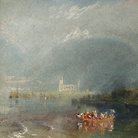 Joseph Mallord William Turner, Jumièges, 1832 circa, Guazzo e acquerello su carta, 191 x 139 mm, Tate, Accepted by the Nation as part of the Turner Bequest 1856 | Courtesy of Chiostro del Bramante 2018