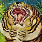 Antonio Ligabue, Testa di tigre, 1953-1954, Olio su faesite, 66.4 x 57.4 cm | Courtesy of Fondazione Archivio Antonio Ligabue di Parma