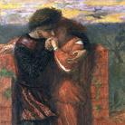 Dante Gabriel Rossetti, Carlisle Wall (Gli amanti), 1853, Acquerello su carta, 24.1 x 16.8, Lascito di E. K. Virtue Tebbs, 1949 | © Tate, London 2014