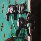 Max Beckmann, Iris neri, 1928, Olio su tela, 45 x 80 cm, Rosemarie Ketterer Stiftung. Dauerleihgabe im Kirchner Museum Davos | © 2018, ProLitteris, Zurich