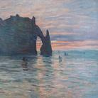 Claude Monet, Soleil couchant à Etretat, 1883, Olio su tela, Musée des Beaux-Arts de Nancy