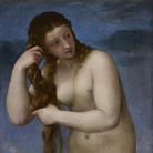 Tiziano Vecellio (1490 - 1576), Venere Anadiomene, 1520 circa, Olio su tela, 58.4 x 73.6 cm, Edimburgo, National Gallery of Scotland