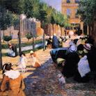 Federico Zandomeneghi (1841 - 1917), Place d'Anvers, Paris, 1880, Olio su tela, 100 x 134.9 cm, Piacenza, Galleria d'Arte Moderna Ricci Oddi