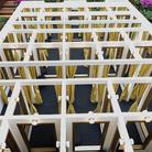 Leandro Erlich, Changing Rooms, 2008, Pannellatura, cornici, specchi, sgabelli, tende, luci, Dimensioni variabili, Particolare, Opera Site specific