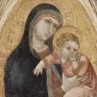 Ambrogio Lorenzetti, Madonna col Bambino, 1337 circa, Tempera e oro su tavola, 54.4 x 122.5 cm Parigi, Musée du Louvre, Département des Peintures