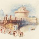 Joseph Mallord William Turner, The Castle of St Angelo, Inciso nel 1832, Acquerello, guazzo e inchiostro su carta, 210 x 171 mm, Tate, Bequeathed by Beresford Rimington Heaton 1940 | Courtesy of Chiostro del Bramante 2018