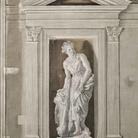 Giandomenico Tiepolo, Figura femminile con clava e leontea (Onfale? Deianira?)
