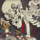 Utagawa Kuniyoshi, La principessa Takiyasha risveglia uno scheletro mostruoso al palazzo di Sōma (Sōma no furudairi), Pannello destro, Circa 1845-46, Silografia policroma (nishikie), h 37.2 cm ciascuno, Masao Takashima Collection