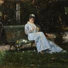 Cristiano Banti, Ritratto di Alaide seduta in giardino, 1875 circa, Antica Collezione Banti | Courtesy of Dart - Chiostro del Bramante e Arthemisia Group 2016