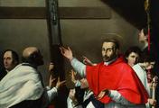 immagine di San Carlo Borromeo porta in processione il chiodo della croce