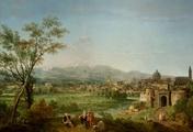 immagine di Veduta ideale di Vicenza con celebrazione allegorica di Andrea Palladio