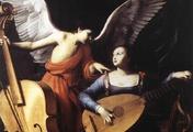 immagine di Santa Cecilia e l'angelo