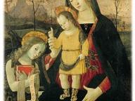 immagine di Madonna col bambino benedicente