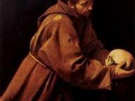 immagine di San Francesco in meditazione