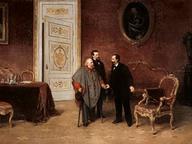 immagine di Visita di Garibaldi a Vittorio Emanuele II a Roma il 30 gennaio 1875