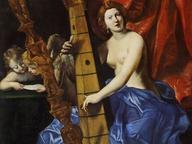 immagine di Venere che suona l'arpa