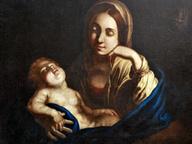 immagine di Madonna col bambino dormiente