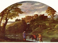 immagine di Paesaggio con la Fuga in Egitto