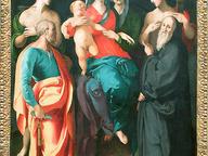 immagine di Madonna col Bambino, sant'Anna e quattro santi