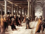 immagine di Cristo e l'adultera
