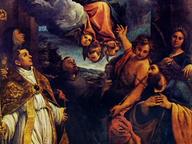 immagine di Madonna col Bambino in gloria e i Santi Lodovico,