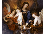 immagine di Vergine col Bambino e Due Angeli Musicanti