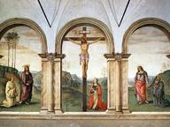 immagine di Crocifissione con la Maddalena, la Vergine, san Bernardo di Chiaravalle, san Giovanni Evangelista e san Benedetto