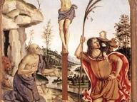 immagine di Crocifisso tra i santi Girolamo e Cristoforo