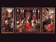 immagine di Trittico del Matrimonio Mistico di Santa Caterina di Alessandria, Hans Memling