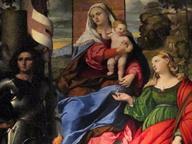 immagine di Madonna col Bambino e i ss. Giorgio, Lucia e angelo musicante