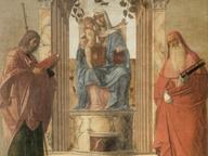 immagine di Madonna col Bambino tra i santi Giacomo e Girolamo
