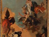 immagine di Madonna del Carmelo consegna lo scapolare al Beato Simone Stock
