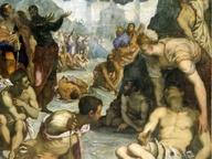 immagine di Sant'Agostino risana gli storpi