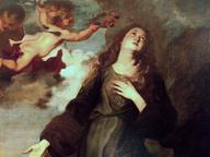 immagine di Santa Rosalia incoronata dagli angeli