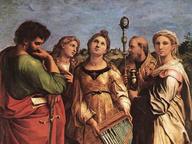 immagine di Estasi di Santa Cecilia fra i Santi Paolo, Giovanni Evangelista, Agostino e Maria Maddalena