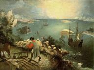 immagine di Pieter Bruegel Il Vecchio, Paesaggio con la caduta di Icaro