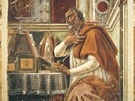 immagine di Sant'Agostino nello studio