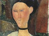 immagine di Donna con nastro di velluto