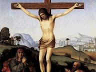 immagine di Crocifissione con San Giovanni Evangelista e San Gerolamo