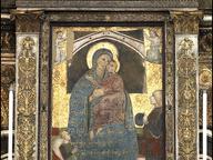 immagine di Affresco Trecentesco/Pugnale con il quale un giovane pugnalò, nel 1241, la figura del bambino da cui sgorgo sangue