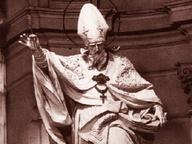 immagine di Sant'Agostino che calpesta l'Eresia tra la Carità e la Fede