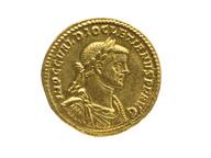 immagine di Sala XII, la moneta d'oro di Diocleziano